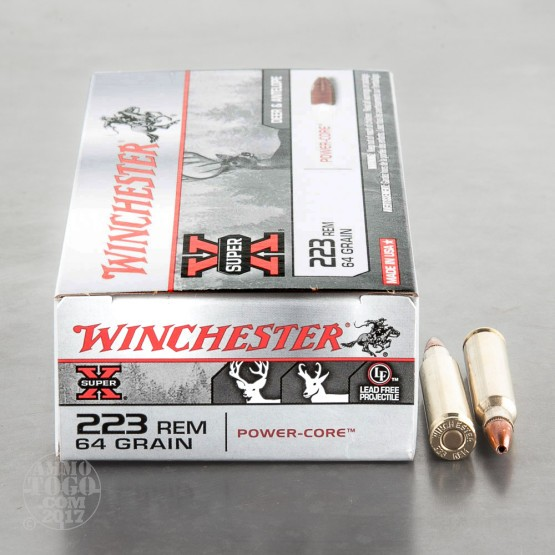 20rds - .223 Winchester 64gr. Super-X Power Core 95/5 Lead Free Ammo