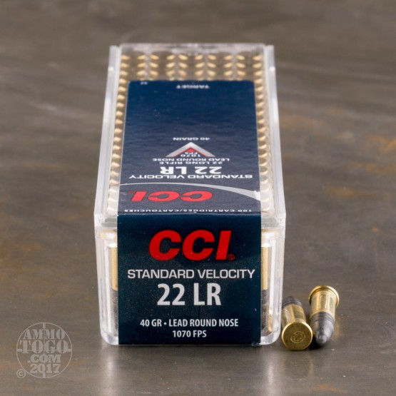 100rds - 22LR CCI Standard Velocity 40gr. Solid Point Ammo
