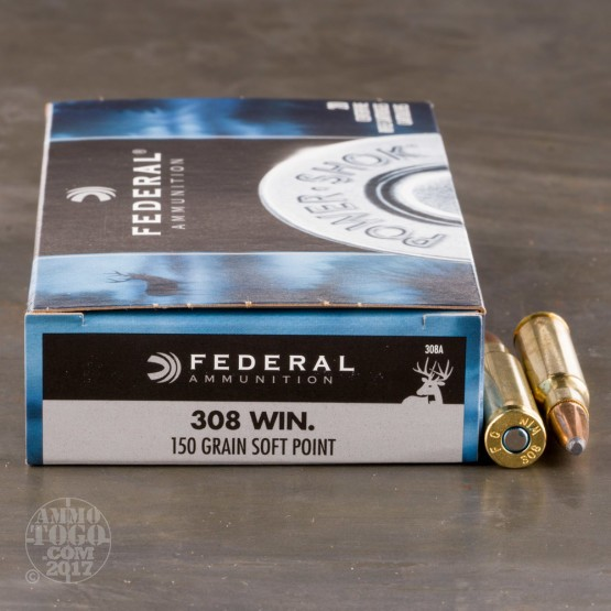 200rds - 308 Federal Power-Shok 150gr. SP Ammo