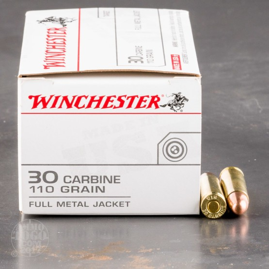 50rds - 30 Carbine Winchester 110gr USA FMJ Ammo