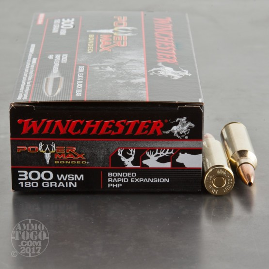 20rds - 300 WSM Winchester 180gr. Super-X Power Max Bonded Ammo