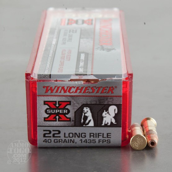 100rds - 22LR Winchester 40gr. Super-X HV Copper Plated HP Ammo