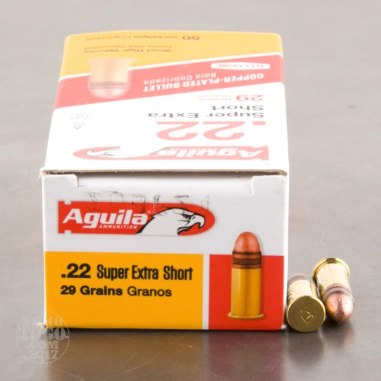 500rds - .22 Short Aguila 29gr. High Velocity Solid Point Ammo