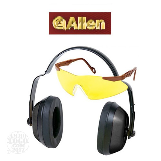 1 - Allen Safety Combo Glasses and Ear Muffs NRR 25dB