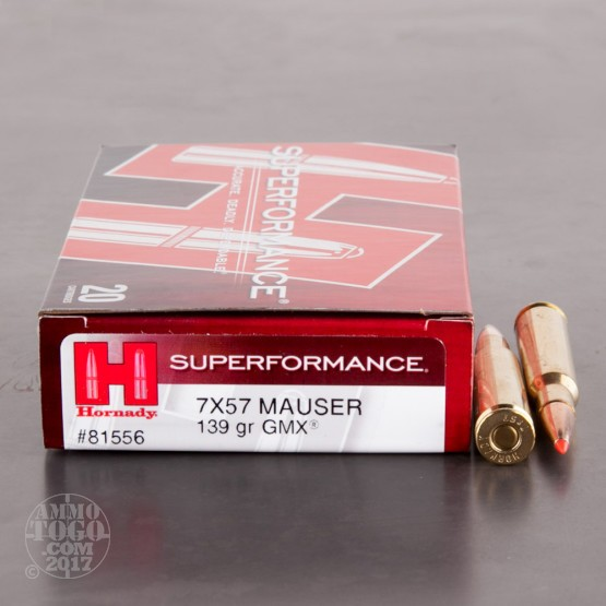 20rds - 7mm Mauser Hornady Superformance 139gr. GMX Ammo