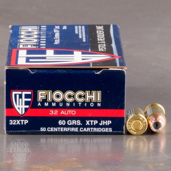 500rds - 32 Auto Fiocchi 60gr XTP Hollow Point Ammo