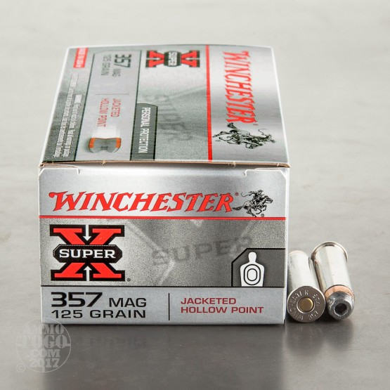 50rds – 357 Magnum Winchester Super-X Personal Protection 125gr. JHP Ammo