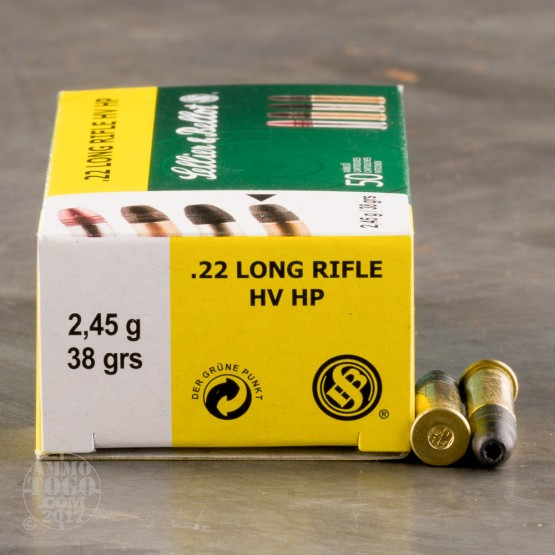 500rds – 22 LR Sellier & Bellot High Velocity 38gr. HP Ammo