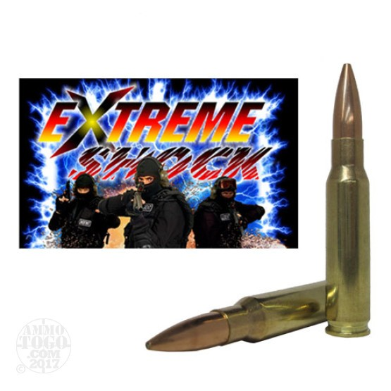 6rds - 308 Win. Extreme Shock 168gr. BTHP Non Toxic Lead Free Frangible Ammo