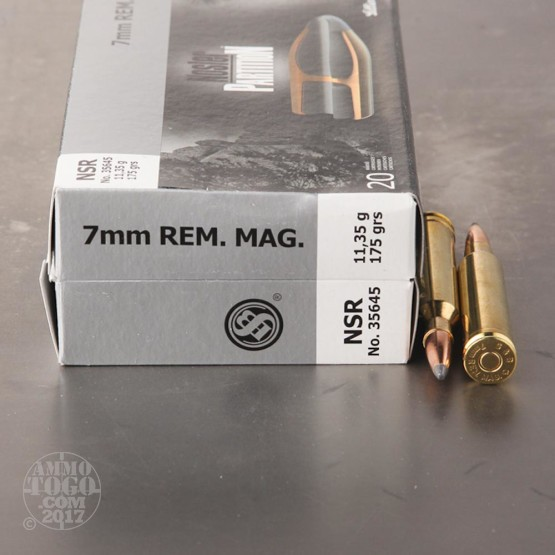 20rds - 7mm Rem Mag Sellier and Bellot 175gr. Nosler Partition SP Ammo