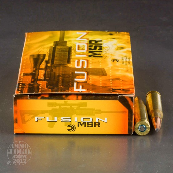 20rds - 308 Win Federal Fusion MSR 150gr. SP Ammo