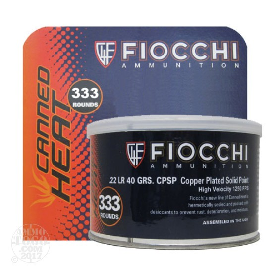 333rds - 22LR Fiocchi Canned Heat 40gr. CPSP Ammo