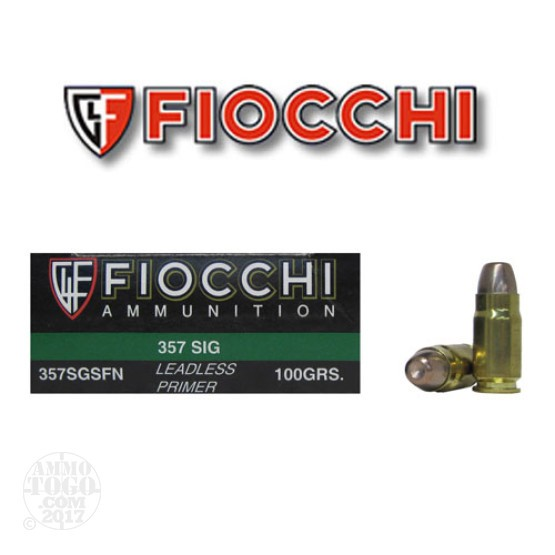 500rds - 357 Sig Fiocchi Sinterfire 100gr. Leadless Frangible Ammo
