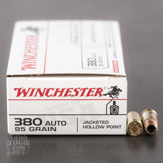 50rds – 380 Auto Winchester Personal Protection 95gr. JHP Ammo