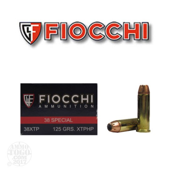 50rds - 38 Special Fiocchi 125gr. XTP Hollow Point Ammo