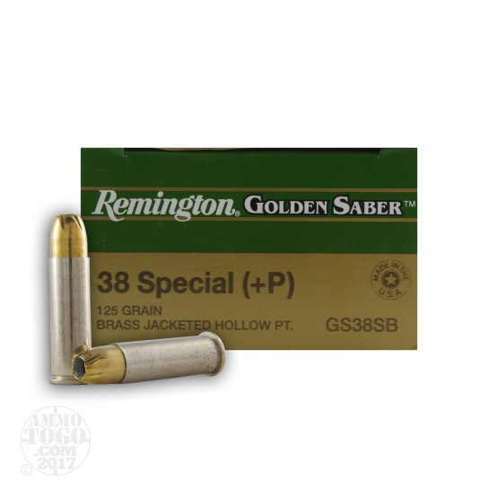 500rds - 38 Special +P Remington Golden Saber 125gr. JHP Ammo
