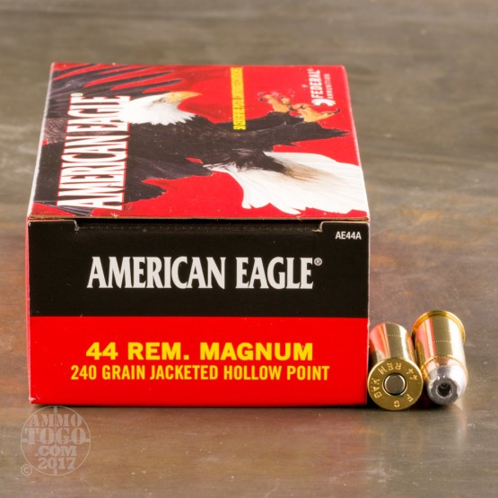 50rds - 44 Mag Federal American Eagle 240gr. JHP Ammo
