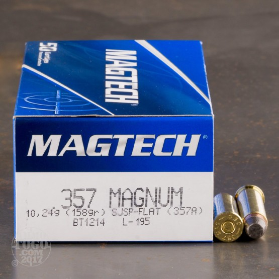 50rds - 357 Mag MAGTECH 158gr. Jacketed Soft Point Ammo