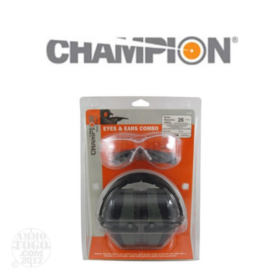 1 - Champion Eyes and Ears Combo Safety Glasses and Earmuff Set