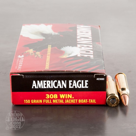200rds - 308 Federal 150gr. FMJBT Ammo in .50 Cal Ammo Can
