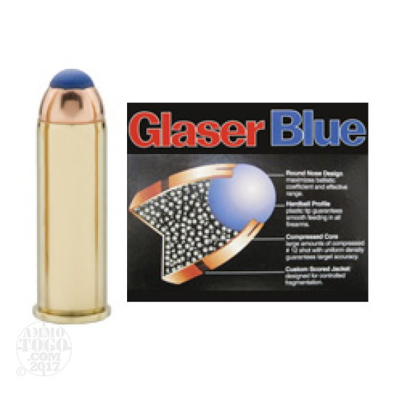 6rds - 44 Rem Mag Glaser Blue 135gr Safety Slug Ammo