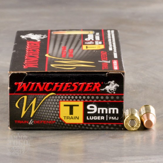 50rds - 9mm Winchester USA 147gr. TCMC Ammo