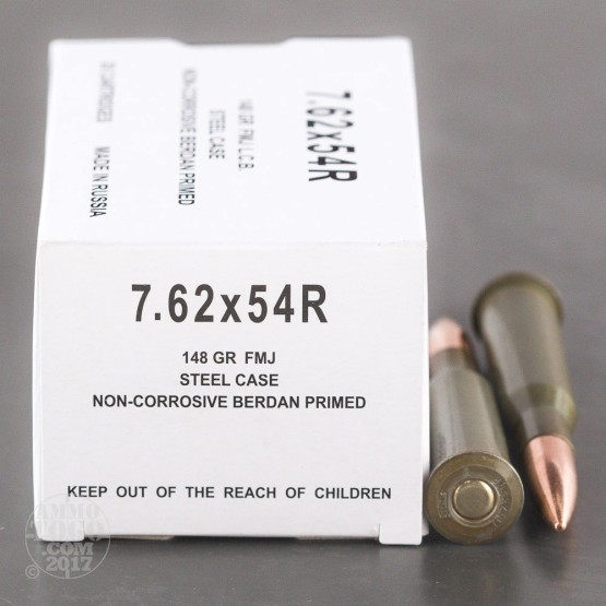 Wolf 7.62x54r 148 Grain FMJ - 20 Rounds