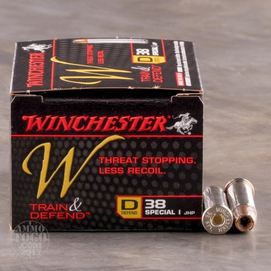 200rds - 38 Special Winchester W Train and Defend 130gr. JHP Ammo