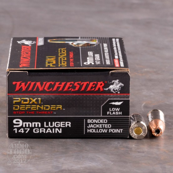 200rds - 9mm Winchester Supreme Elite PDX1 147gr. Bonded JHP Ammo