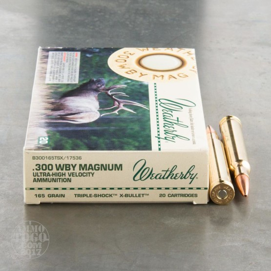 20rds - 300 Weatherby Mag. 165gr. Barnes TSX Hollow Point Ammo