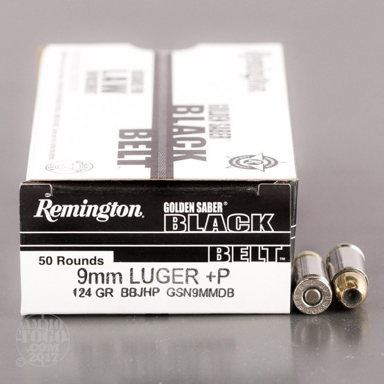 500rds – 9mm Remington Golden Saber Black Belt 124gr. JHP Ammo
