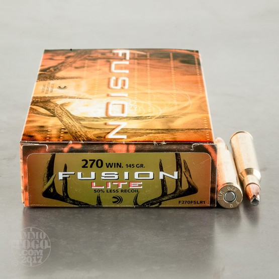 20rds - .270 Federal Fusion Lite 145gr. SP Ammo