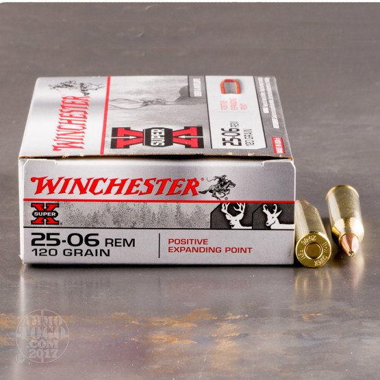 20rds - 25-06 Rem Winchester 120gr. Positive Expanding Point Ammo