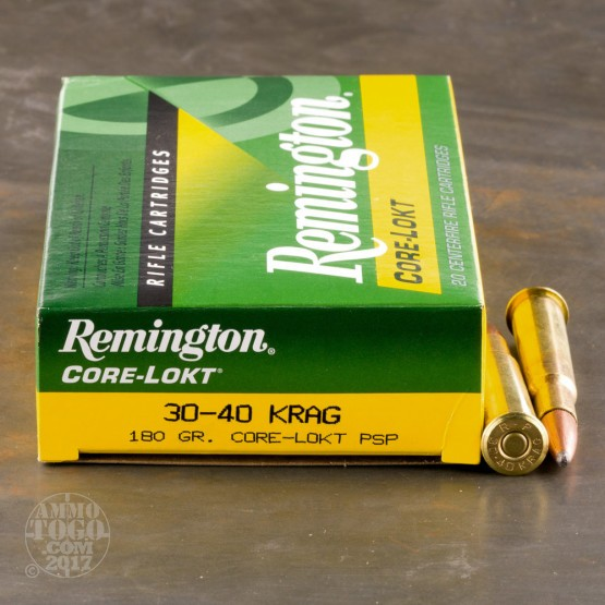 20rds - 30-40 KRAG Remington Express Core-Lokt 180gr. PSP Ammo
