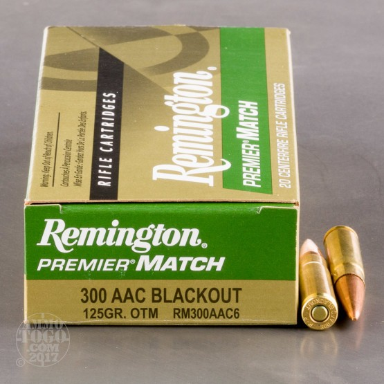20rds - .300 AAC BLACKOUT Remington Premier Match 125gr. OTM Ammo