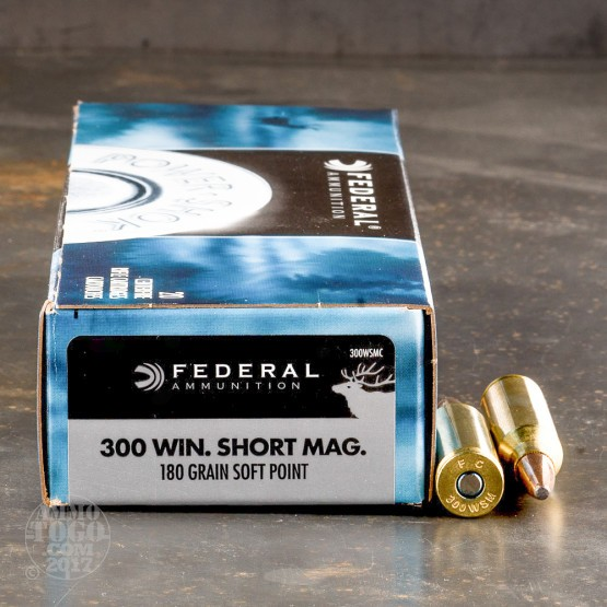 20rds - 300 WSM Federal Power-Shok 180gr. Soft Point Ammo