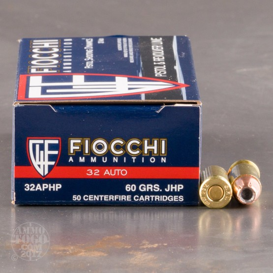50rds - 32 Auto Fiocchi 60gr. Jacketed Hollow Point Ammo