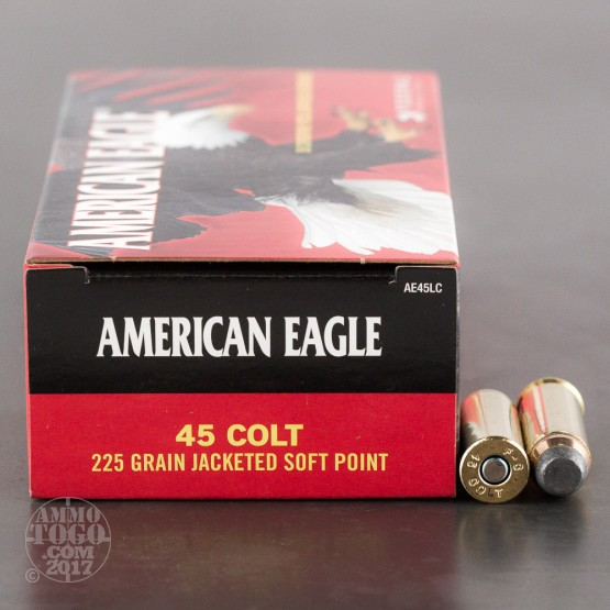 50rds - 45 Long Colt Federal American Eagle 225gr. JSP Ammo