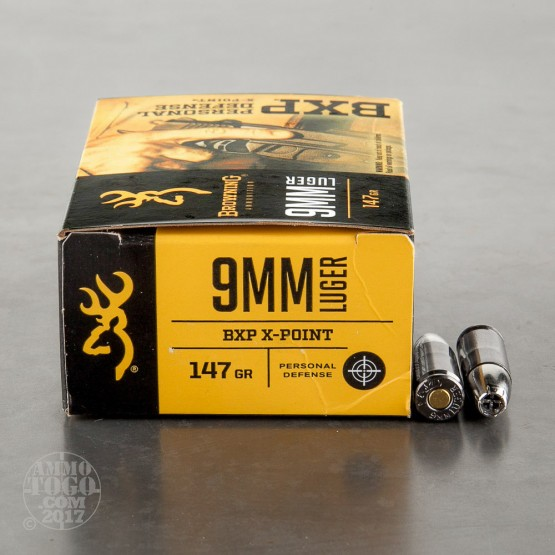 20rds – 9mm Browning BXP 147gr. X-Point JHP Ammo