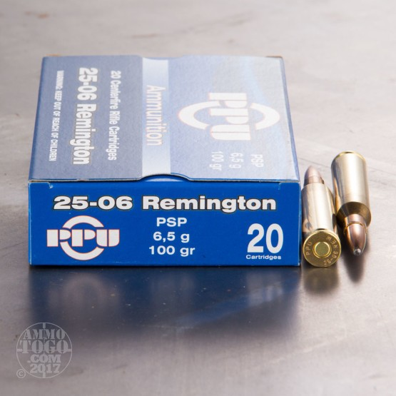 20rds - 25-06 Rem. Prvi Partizan 100gr. Pointed Soft Point Ammo