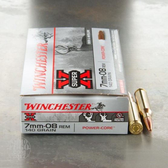 20rds - 7mm-08 Rem. Winchester Super-X 140gr. Power Core Lead Free HP Ammo