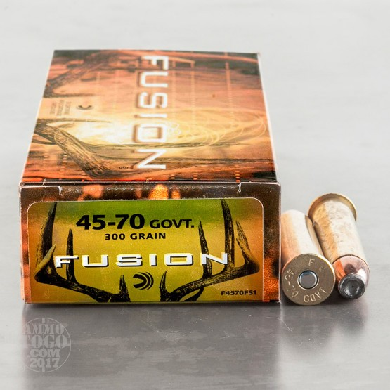 20rds - 45-70 Govt. Federal Fusion 300gr. SP Ammo