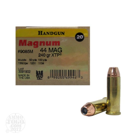 20rds - 44 Mag Magnum Research 240gr. XTP Hollow Point Ammo