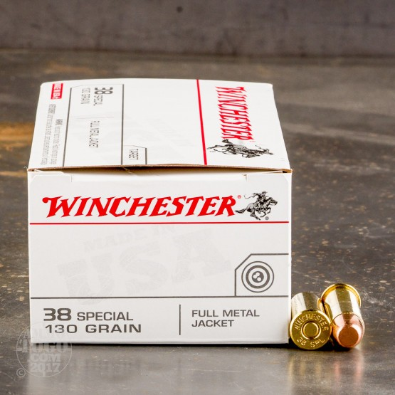 50rds - 38 Special Winchester USA 130gr. FMJ Ammo