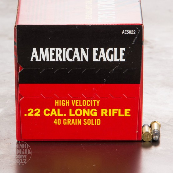 5000rds - 22LR Federal American Eagle 40gr. HV Solid Point Ammo