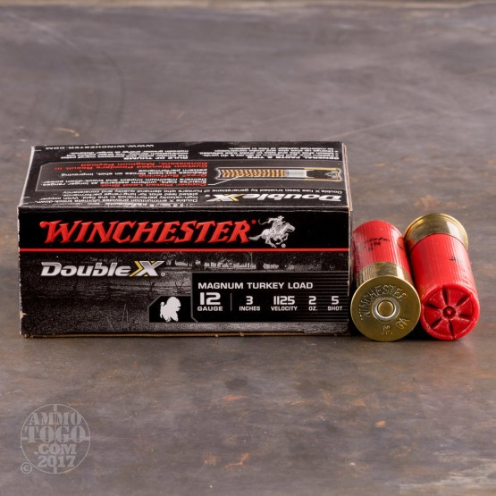 """100rds - 12 Gauge Winchester Double-X 3"""" 2oz. #5 Shot Ammo"""