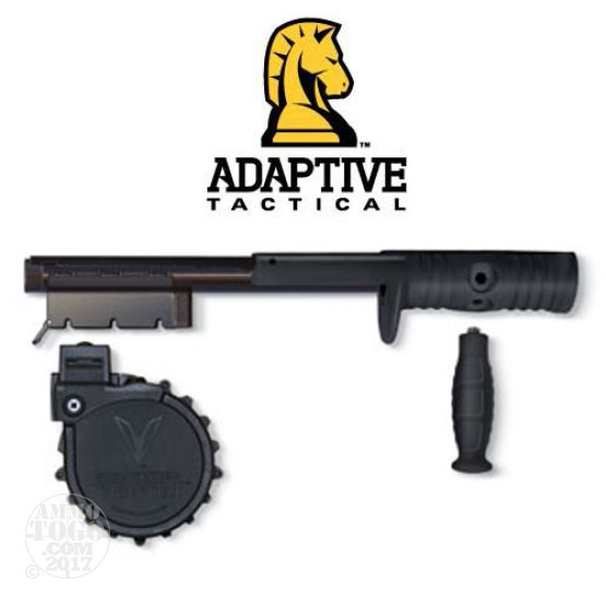1 - Adaptive Tactical Venom Shotgun 10rd. Rotary Mag. Conversion Kit BLK For Mossberg 500 & 88