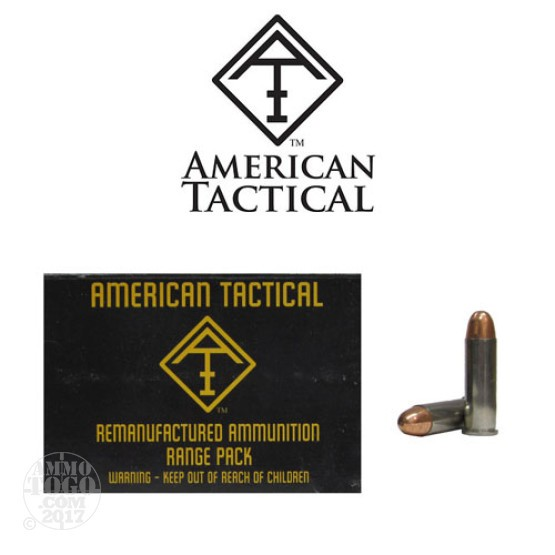 500rds - 38 Special American Tactical Imports Re-Mfg. 158gr. TCJ Ammo