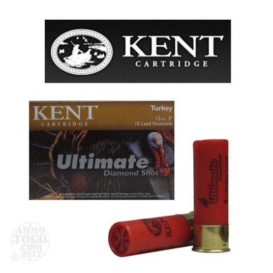 "10rds - 12 Ga. Kent Ultimate Diamond 3"" 1 3/4oz. #5 Lead Shot Ammo"