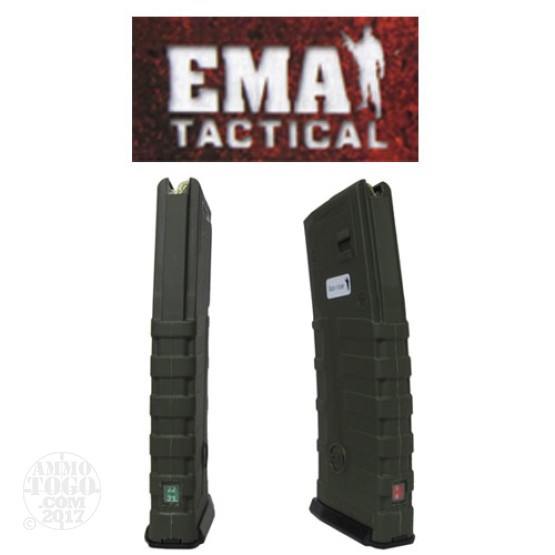 1 - EMA Tactical Countdown 5.56 AR-15/M16 30rd. Magazine OD Green